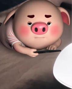 Pig 🍭 Pig Wallpaper, Snoopy Wallpaper, Funny Phone Wallpaper, This Little Piggy, Little Pigs, Cute Piglets, Pig Family, 3d Art, Pig Drawing