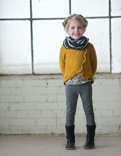 Amelia Sweater, CHAR Aspyn Tee, Quincy Legging, and Black Eternity Scarf   Persnickety Clothing