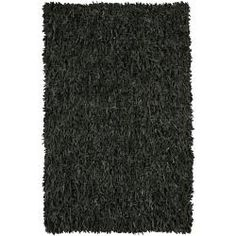 Shop for Artist's Loom Hand-woven Natural Eco-friendly Leather Shag Rug (4'9 Round). Get free shipping at Overstock.com - Your Online Home Decor Outlet Store! Get 5% in rewards with Club O! - 13470925