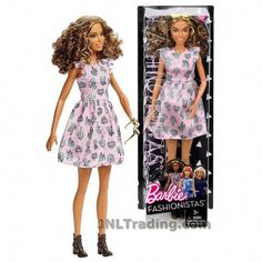 Barbie Year 2016 Fashionistas Series 12 Inch Doll - Tall Hispanic BARBIE in Cactus Cutie Dress with Sunglasses New Barbie Dolls, Barbie Toys, Vintage Barbie Dolls, Barbie And Ken, Barbie Stuff, Chelsea Doll, Dresses For Tweens, Barbie Fashionista, Year 2016