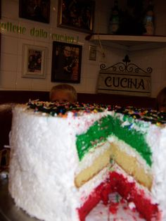 Buca De Beppo's Italian party cake! Insanely huge and delicious!