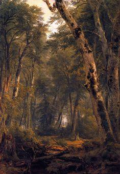 Asher B. Durand - Study: Woodland Interior,1854