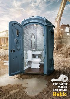 The paper makes the toilet. Advertising Agency: Leo Burnett, Berlin, Germany Chief Creative Officer: Andreas Pauli Executive Creative Director: A