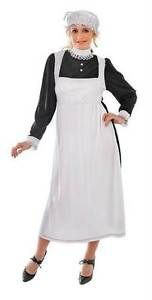 CHRISTMAS VICTORIAN MAID LADIES DOWNTON BOOK WEEK DRESS & HAT COSTUME NEW 8-10 | eBay