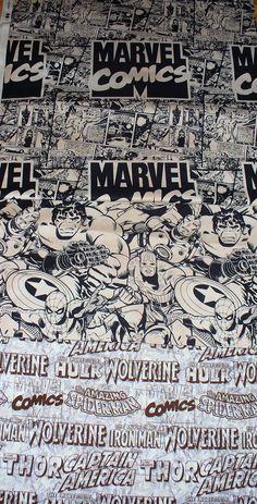Marvel Super Heroes  Fabrics / Neutrals / 3 by trinketsintheattic, $11.00