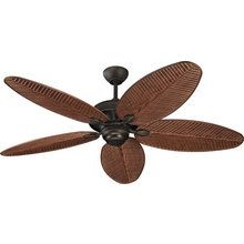 """View the Monte Carlo Cruise RB Tropical / Safari 52"""" Cruise Wet Rated Outdoor Fan at LightingDirect.com. Comes in Roman Bronze, size 11.5"""" to  14"""" with down rod $275"""