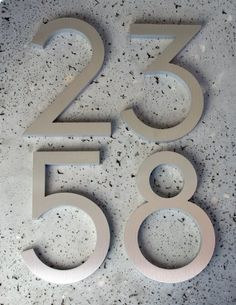 Modern House Numbers Modern Font Recycled Aluminum Set of 5 numbers tall 6 House Number, Garden Plaques, Decoration Inspiration, Modern Fonts, Home Signs, House Front, Home Renovation, Exterior Design, Architecture