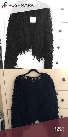 728d0ca4b7 Black shaggy cardigan Black knit shaggy cardigan Missguided Sweaters  Cardigans