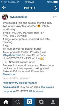 Sweet Potato Peanut Butter Protein Cookies