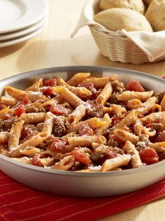 Doused in Italian sausage, tomatoes, and combined with tender pasta, this One-Skillet Italian Sausage Pasta is sure to be a family favorite!