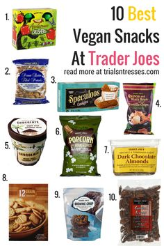 10 Best Vegan Snacks At Trader Joes that'll be yummy and budget friendly!