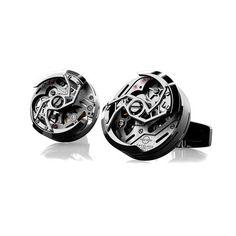 Rotor Cufflinks // Black PVD