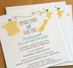Beach Wedding Invitation, Travel/Destination theme by WeddingPlanningShop