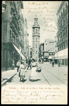 Calle de la Paz y Torre de Santa Catalina, 1904. Fotografía de Hauser y Menet