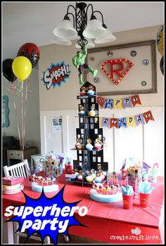 Superhero Party for boys birthday via createcraftlove.com!