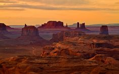 Sunset over Monument Valley by Gleb Tarro - Photo 51196 / Valley Landscape, Desert Landscape, Look At My, Desert Life, Desert Road, Elements Of Nature, Outdoor Photos, Landscape Photos, Landscape Art