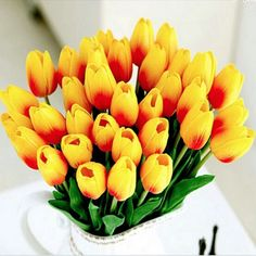 20pcs/lot Tulip Artificial Flower 2017 Real Touch PU Wedding Flowers Home Decoration Artificial Bouquet Decorative Flowers