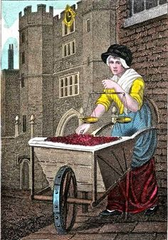 William Marshall Craig's Itinerant Traders of London in their Ordinary Costume...1804.  Cherries