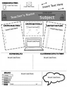 Editable Syllabus Template UPDATED 2020-2021 by Christine Sauer | TpT Syllabus Template, Insert Text, Meet The Teacher, World Geography, Back To School, Clip Art, Student, Templates, Program Template