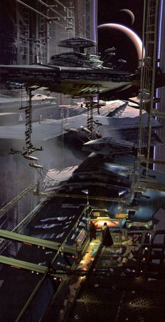 A drydock on one of the Death Stars