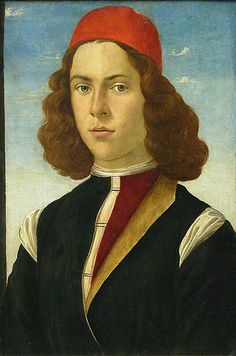 """Portrait of a Young Man"" Sandro Botticelli"