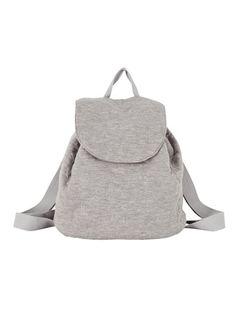 grey mélange jersey backpack