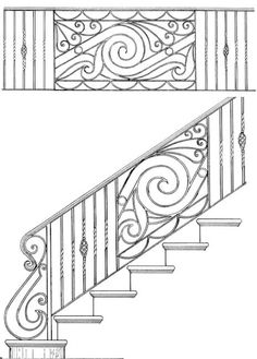 Stair Railing Designs ISR042