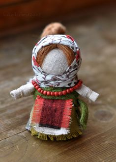 happiness doll. Traditional Folk Russian cloth Doll