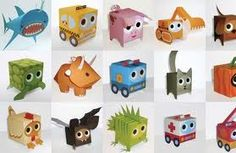 Paper Box World is a fun site full of paper toy boxes in the shape of . Cute Crafts, Diy And Crafts, Crafts For Kids, Diy Origami, Origami Bird, Diy Upcycling, Christmas Activities For Kids, Paper Birds, Paper Toys
