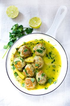 Thai turkey meatballs with lemongrass coconut sauce | Feasting at Home