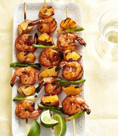 Shrimp and Peach Kabobs (from Good Housekeeping)