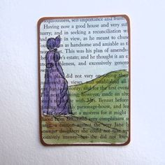 ACEO, Illustration, Country Dreamer No.2 on Vintage Book Page £1.75