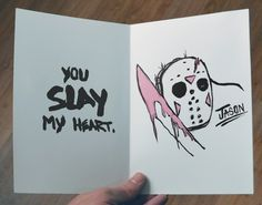 When it's Valentine's Day and bae loves horror movies Horror Themes, Horror Decor, Valentine Day Cards, Valentines Diy, Dark Beauty, Scary Movies, Horror Movies, Slasher Movies, Funny Horror