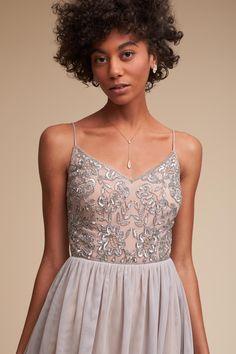 BHLDN Mist Grey Bellina Dress in  Sale | BHLDN