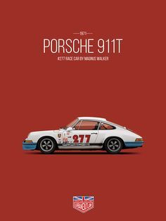 petrolified: A tribute to Magnus Walker and his #277 Racing 911. More prints to be found at Petrolified.com