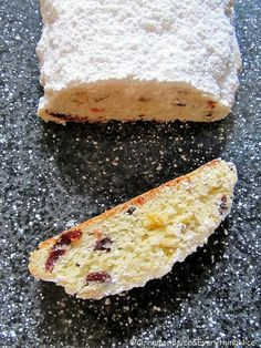 I know it's a little early, but this is the best Christmas Stollen recipe! I know it's a little early, but this is the best Christmas Stollen recipe! Christmas Stollen Recipe, Christmas Bread, Christmas Cooking, Recipe For Stollen, German Christmas, Stollen Bread, No Bake Desserts, Dessert Recipes, Peanut Butter Bread