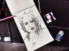 [diabolic talla] bic e matita su carta. 2014 Polaroid Film, My Love, Letters