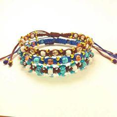 Colorful stackable macrame bracelets #my_armcandy Friendship Bracelets Designs, Bracelet Designs, Macrame Bracelets, Knots, Bangles, Colorful, Patterns, Jewelry, Bracelets