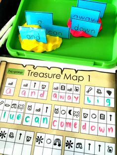 Set up a fun Sight Word Activity using simple, DIY materials with a pirate treasure map, some dry erase pens, play dough (any kind) and sight word cards. This activity incorporates practicing beginning sounds. Kids use the phonics picture codes to work out the initial letters then see the 'secret word'. You can use simple …