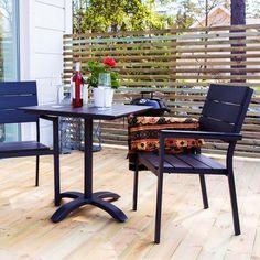 Cafèbord sæt i sort Outdoor Furniture Sets, Outdoor Decor, Sorting, Home Decor, Interior Design, Home Interior Design, Home Decoration, Decoration Home, Interior Decorating