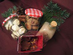 Kokosmakronen-Bussis mit Schokocreme  Weihnachtsschokolade mit Nüssen  Wallnussplätzchen  Spekulatiuslikör