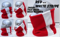 RED White ARSENAL football fleece neck warmer scarf tube snood ski sport GAITOR
