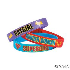 Accessorize like a superhero with these great DC SuperHero Girls™ Bracelets! Perfect party favors for a superhero-themed birthday party, these bracelets . Superhero Favors, Girl Superhero Party, Birthday Party Themes, Girl Birthday, Summer Birthday, Birthday Ideas, Batman Wedding, Princess Tea Party, Super Hero Costumes