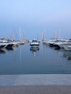 Santa Eulalia Marina, Ibiza - yachts, sea, boats, photography, sunset, symmetry (photograph by Yasmin Stopford)