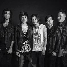 "Asking Alexandria ""We're trying to be serious for once haha #AAFamily """