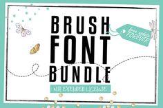 Brush Font Bundle @creativework247