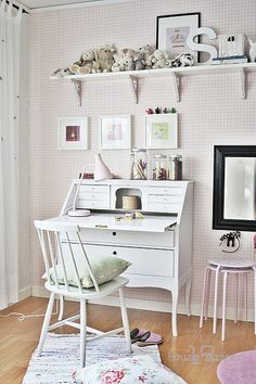 beautiful kids desk space