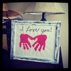 Toddler art- heart hand print