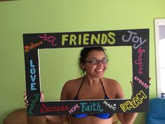 Picture frame with sentimental words. Perfect for Angelique's graduation party.