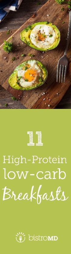 Take control of mid-morning hunger with these high-protein, low carb breakfast recipes and ideas!